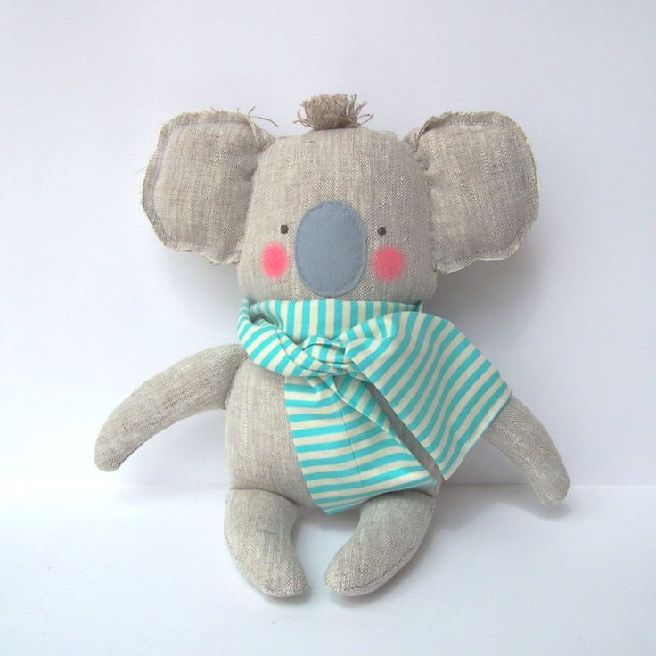 Koala toy, plush baby toy Koala linen toy, cuddly cute baby koala. Neutral color and mint. Baby shower, birthday gift by CherryGardenDolls on Etsy https://www.etsy.com/listing/248544718/koala-toy-plush-baby-toy-koala-linen-toy