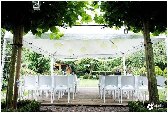 tuinbruiloft tent voor bruiloft in je achtertuin