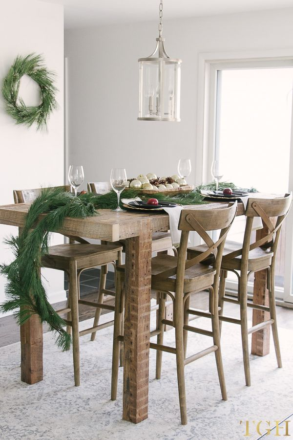 Christmas decorations using fresh greenery christmastable holidaytable christmasdecor
