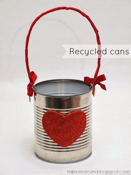 Cómo reciclar y decorar fácilmente una lata de conservas. DIY: Recycled cans.
