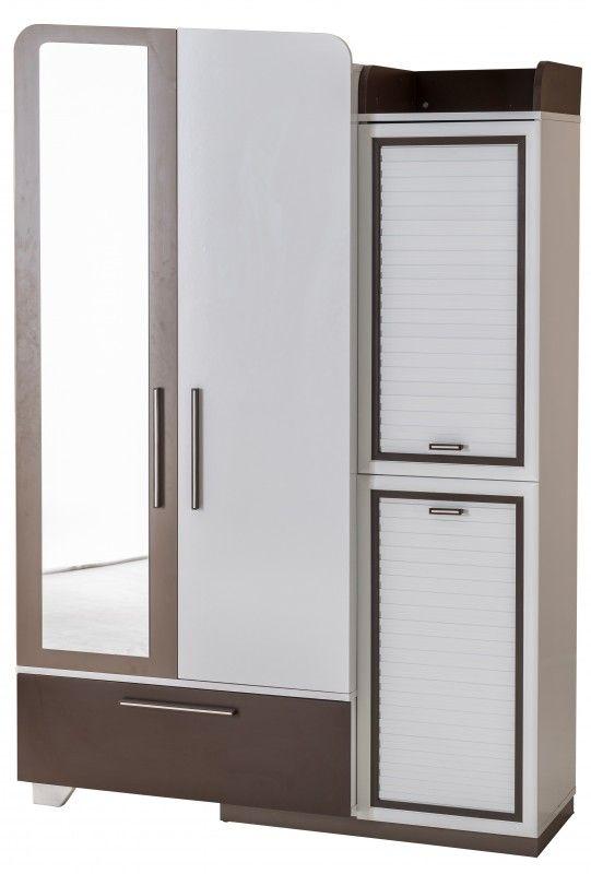 Armoire Garcon Armoire Chambre Garon 3 Portes Blanc Et Marron Troy  Lestendancesfr
