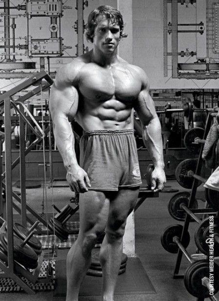 Bodybuilding Pictures: Arnold Schwarzenegger at Work