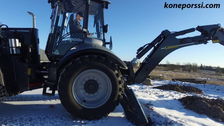 Lännen 8800K is a brand new multipurpose backhoe loader from finnish com...