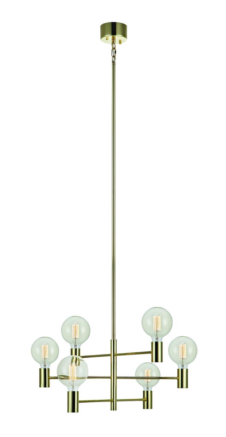 Taklampa Capital från Markslöjd. Justerbar i höjd samt med vridbara armar. Stora, (E27) lamphållare för max 60W glödljus eller motsvarande styrka i halogen, lågenergi eller LED. Ljuskällor medföljer ej. Upphäng för takkrok. Takkontakt klass 1 (Jordad) medföljer.  #vägglampor #wall #light #markslöjd # lampa #lamp #light #capital #brass #mässing