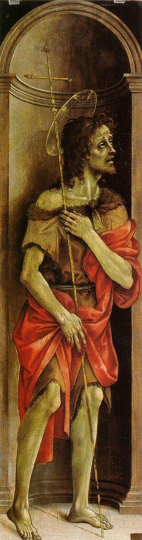 Filippino Lippi - San Giovanni Battista - olio su tavola - 1500 circa - Galleria dell'Accademia a Firenze.