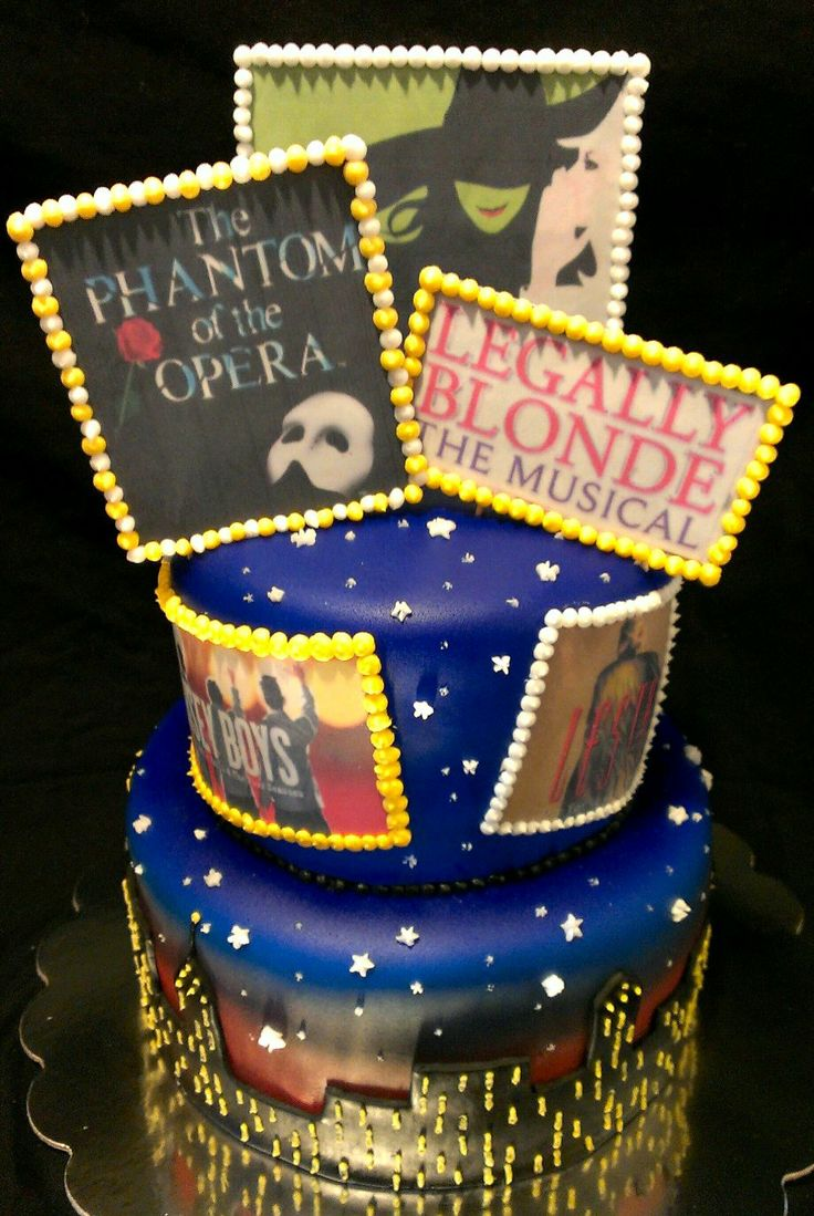 Broadway Themed Birthday Cake Ideas And Designs