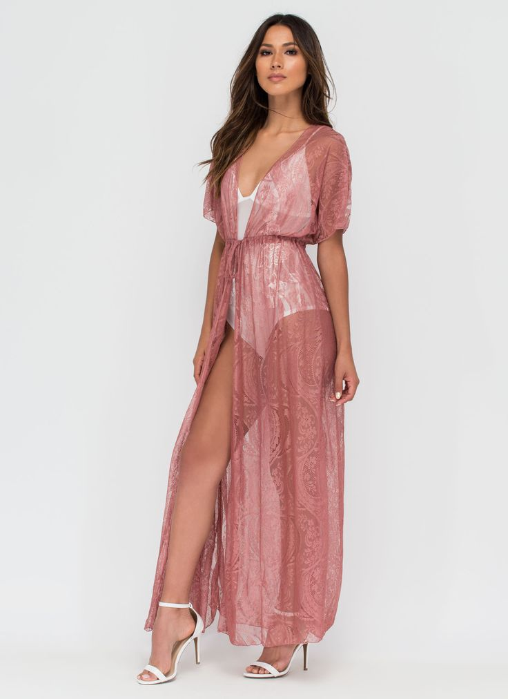 This dreamy lace dress will definitely bring out the hopeless romantic in you. #mauve #dress #lace #romance #sexy #fashion #inspo #trending #gojane