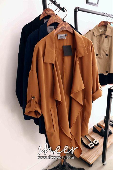 İnce ceket ceket kadın 2I108 Hitz Avrupa ve Kore Dongdaemun düzensiz placket uzun bölüm - Taobao