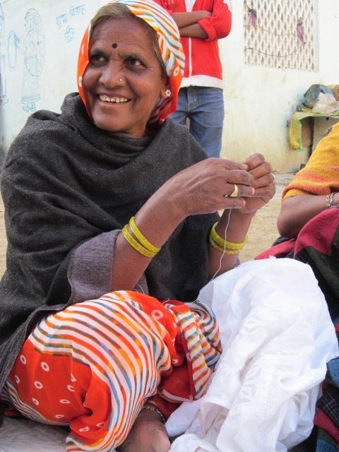 Woman smiling. Sadhna. Udaipur.