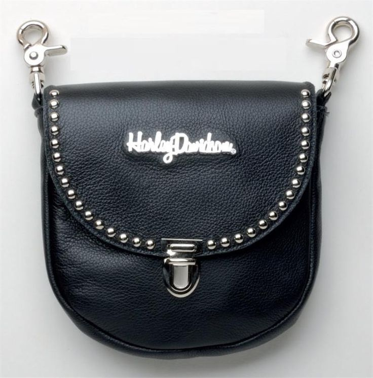 Harley-Davidson® Studded Clip Pouch with Strap HD607