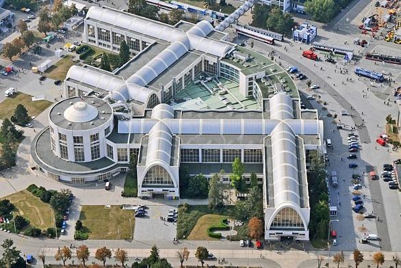 Brněnské veletrhy. Brno's exhibition grounds.