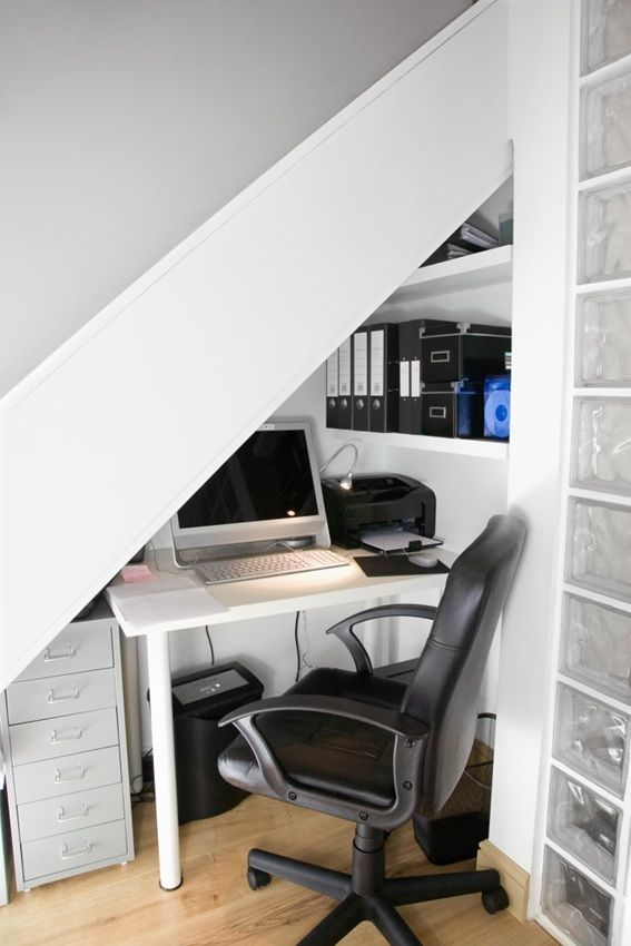 Desk Under Stairs 14 best under stairs images on pinterest | stairs, desk under