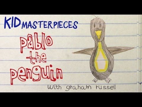 "Kid Masterpieces: ""Pablo the Penguin"" by Graham Russell ""Pablo realized…he was hungry for cereal"""