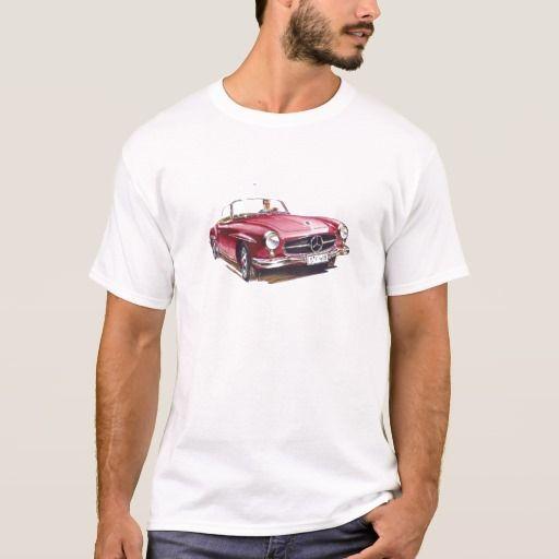 Red #Mercedes #benz #sl300  cabriolet #oldtimer #car T-Shirt