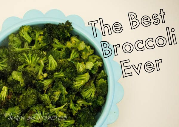 Best Broccoli recipe ever. So simple! Even my kids gobbled this up. Beehive and birdsnest.com