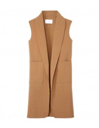 Oversized Wool Vest