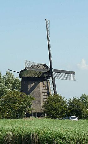 Polder mill De Havik, Grootschermer, the Netherlands.