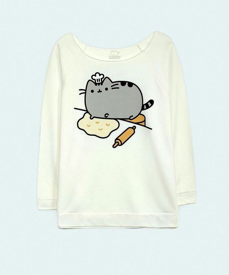 Pusheen The Cat BAKER PUSHEEN 3/4 Sleeve Raglan Womens T-Shirt NWT Licensed in Clothes, Shoes & Accessories, Women's Clothing, Tops & Shirts | eBay