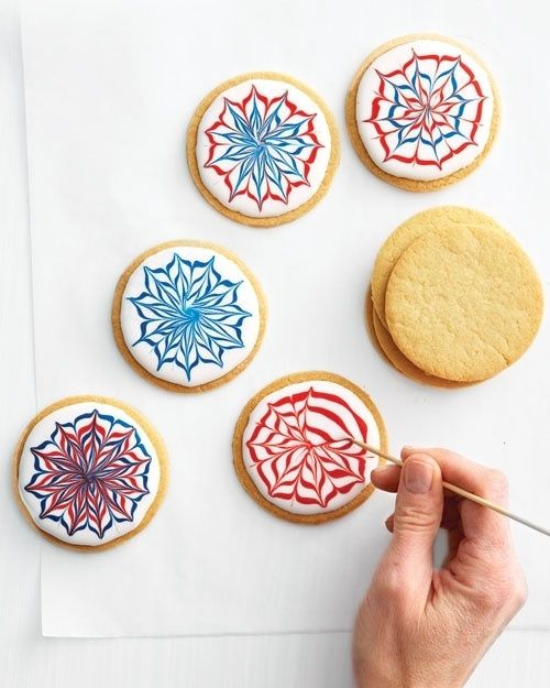 Gather decorating tools such as toothpicks and unused paint brushes for more precise #cookie decorating