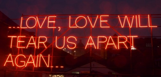 Love will tear us apart...