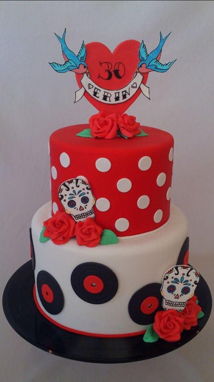 Best Rockabilly Cake Ideas Images On Pinterest Biscuits - Rockabilly birthday cake