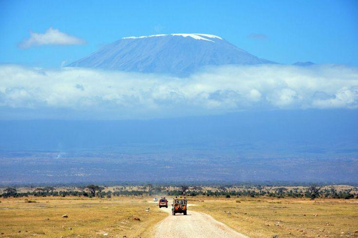 Monte Kilimanjaro visto de Masai Mara, no Quênia