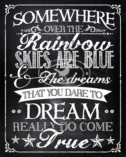 Music quotes for baby d 39 s nursery somewhere over the for House hits 88