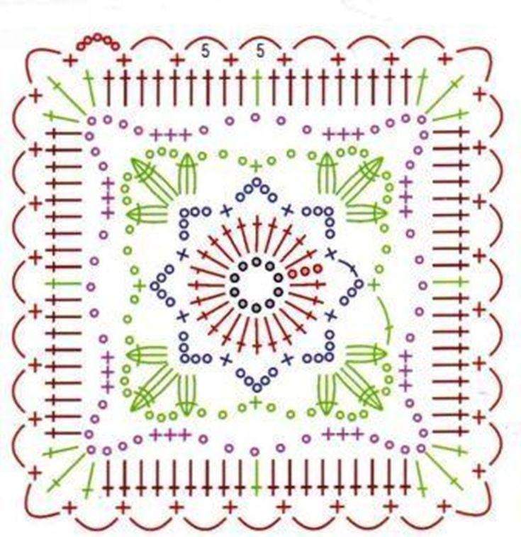 Crochet motif diagram.