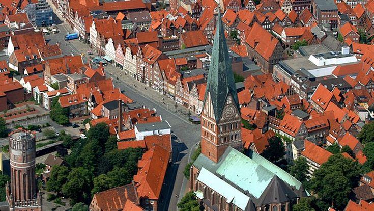 Lüneburg aus der Vogelperspektive