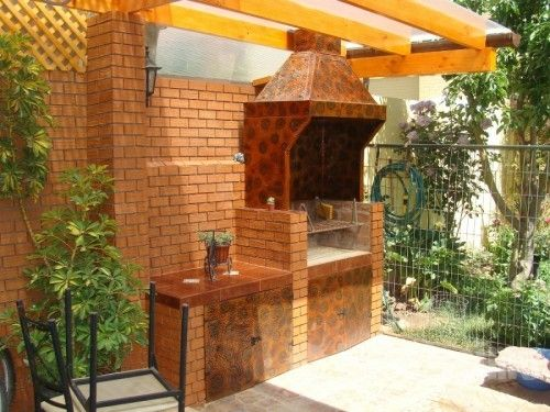 Dise o quincho en terraza proyectos chile asadores - Planos de chimeneas de ladrillo ...