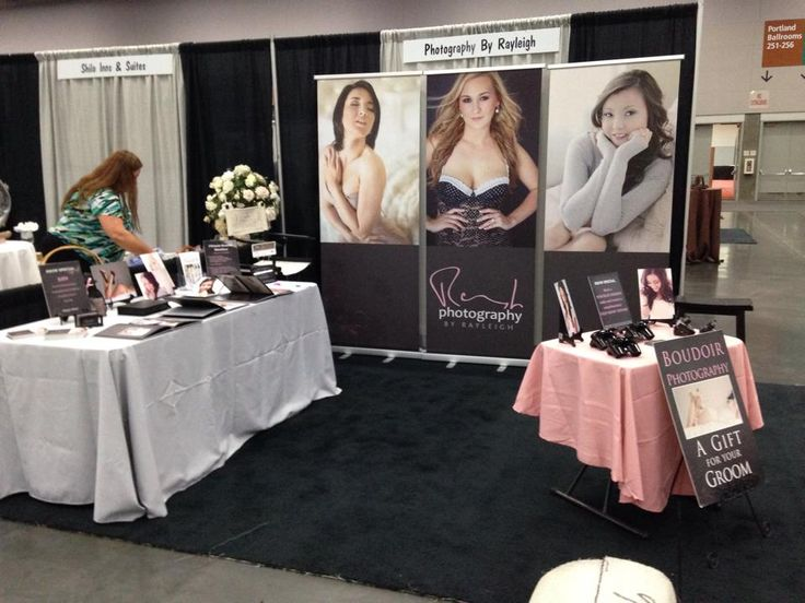 my boudoir photography vendor booth at the portland wedding showcase bridal show in january