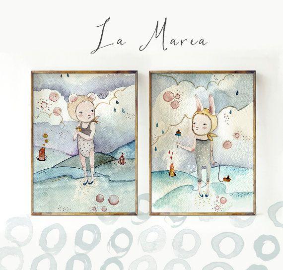 La Marea  Sets & Collections  Holli  Nursery Wall Art  by holli