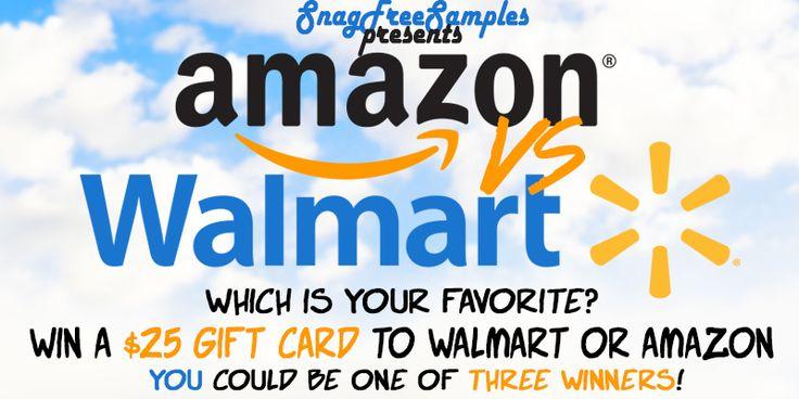 3 25 amazon or walmart gift cards 3 winners walmart