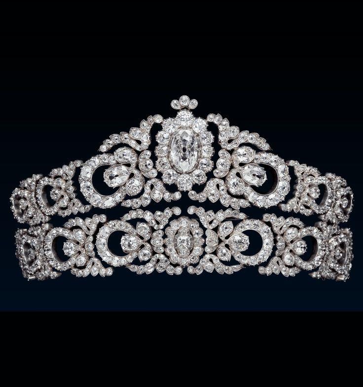A Belle Epoque diamond tiara of Archduchess Maria Anna of Austira, by Moritz Hübner, Austria, circa 1903.