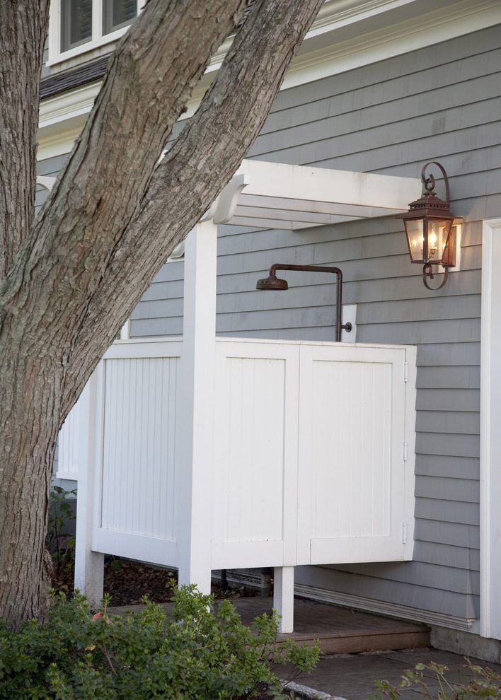 Outdoor shower heads patio traditional with casual outdoor shower sonoma forge shower head