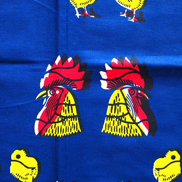 アフリカの布 パーニュ(ニワトリ) - カラフルなアジアン雑貨 笑福Lotus(ワラフクロータス) | エスニック | ベトナム雑貨 | アフリカ雑貨 | 通販