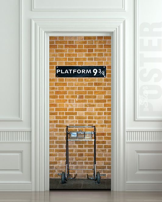door-decorative-wall-sticker-mural-decal-harry-potter-platform.jpg (531×661)