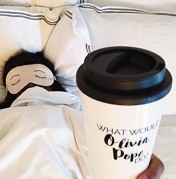 What Would Olivia Pope Do? Travel Mug  - www.effiespaper.com - Scandal ABC - Kerry Washington - Coffee Mugs