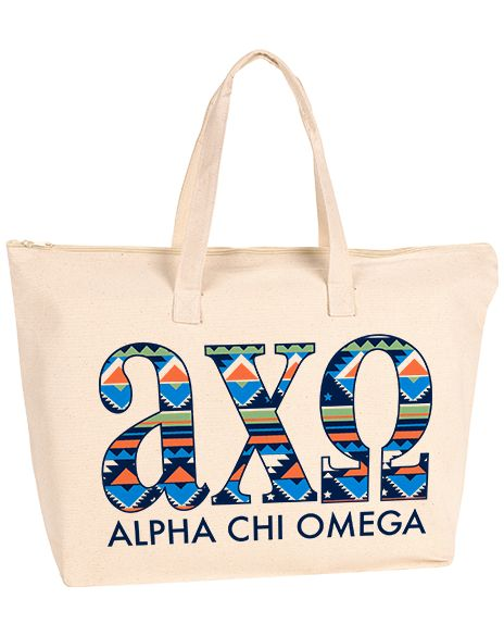 Alpha Chi Omega Tribal Tote