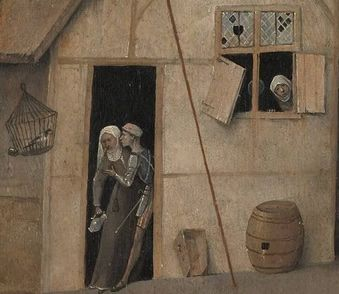 С НАМИ БОСХ. Писающий мужчина и другие персонажи картины «Блудный сын»