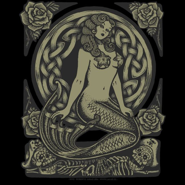 Mermaid Monochrome is a T Shirt designed by RobertoJL to illustrate your life and is available at Design By Humans