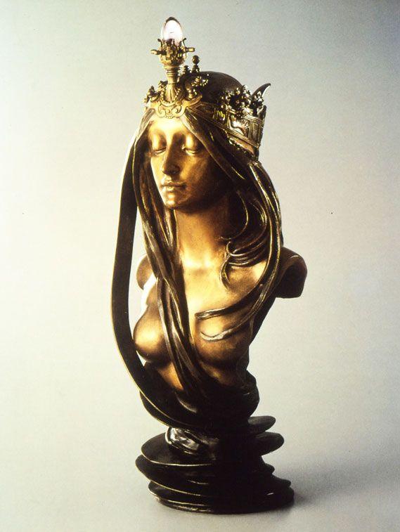Alfons Mucha (1860-1939) La Nature, vers 1898-1900, bronze doré et argenté. #Expo #Paris #1900 #villespectacle #PetitPalais