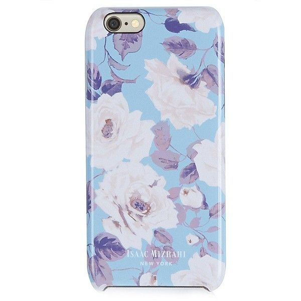 Isaac Mizrahi Pale Blue French Rose iPhone 6 Case found on Polyvore featuring accessories, tech accessories, phone, phone cases, tech, iphone cover case, apple iphone cases, pattern iphone case, iphone headphones and isaac mizrahi