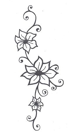 254 best flowers images on Pinterest Drawings Doodle flowers