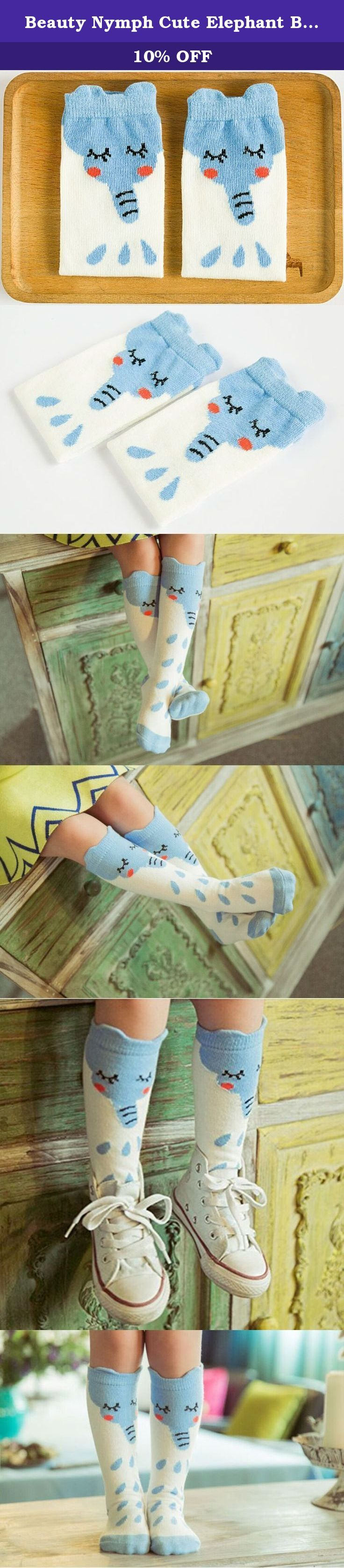 Beauty Nymph Cute Elephant Baby Knee High Stockings Tube Socks for Girls (S:(0-1year)). Two Pairs Cute Elephant Baby Knee High Stockings Tube Socks for Girls 100% Brand New and High Quality Color: Red Bow(White and Blue with Red Bow) Material: Cotton Blend,Nearly75% Cotton/22% Nylon/3% Spandex Fit age/length of socks sole :S(0-1Year)/(8-10cm);M(1-3 Years)/(10-13cm)L(4-6 Years)/(13-15cm) Features: Keep your baby warm with fashionable look Stylish and practical, durable and comfortable for...
