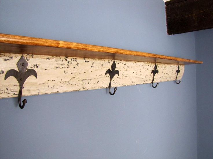 Superb Large 205cm Reclaimed Timber wall hanging Hat & Coat Rack With Shelf