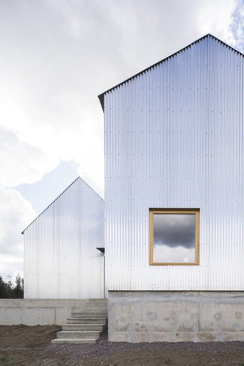 Raw corrugated steel house designed by Björn Förstberg and Mikael Ling.