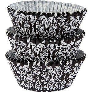 Cupcakeformer Black & White Damask  75 stk | Pynt Til Fest. Tips, inspirasjon og gode ideer til din fest.