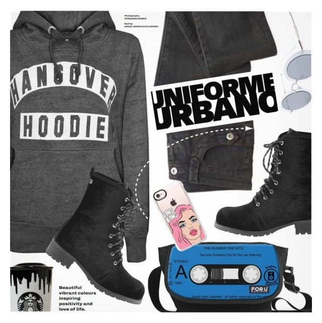 """""""Street Style"""" by pokadoll ❤ liked on Polyvore featuring Band of Outsiders and Casetify"""