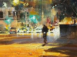 Image result for michael cawdrey art facebook .   Detail, Eagle Street - acrylic street scene
